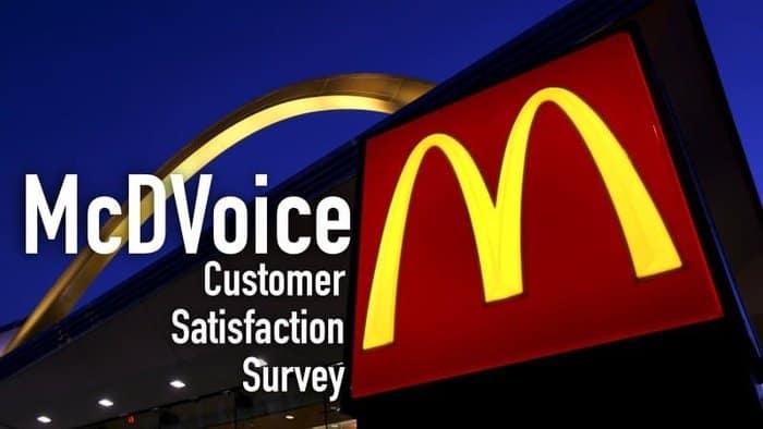 McDVoice Survey – McDonald's Customer Satisfaction Survey